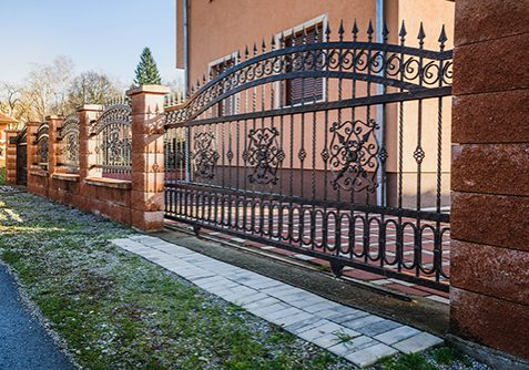 Iron fence with iron gate